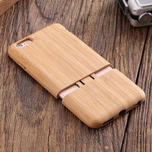 KISSCASE Real Wood Case For iPhone 7 6 6s Plus Natural Hard Shell Cover Cases For iPhone 6s 7 Plus Luxury Back Phone Capa Fundas(China)