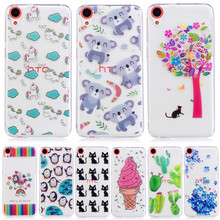100 pcs Wholesale Cats horse Penguin Case For Coque HTC Desire 526 D526h 820 D820u 820Q Cases Clear TPU Silicone Capinha hoesjes(China)