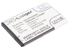 Battery For HTC For Droid Incredible 2, II, ADR6350, ADR6350VW (p/n 35H00152-04M, 35H00152-05M, BTR6350, BTR6350B)(China)