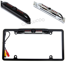 Factory Outlets Night Vision License Plate Frame Camera HD US Car Backup Revere Rear View Camera USA Paking Camera