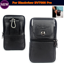 Genuine Leather zipper pouch Belt Clip Waist Purse Case Cover for Blackview BV7000 Pro 4G Mobile Smart Phone Bag Free Shipping(China)