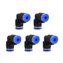5 Pcs/Lot Pneumatic Push In Elbow Fitting Connector PV for Air/Water Hose & Tube Airline 5Pcs Same Size(China)