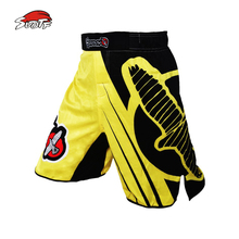 SUOTF MMA boxing match fitness training yellow loose personality breathable cotton boxer shorts kickboxing shorts muay thai