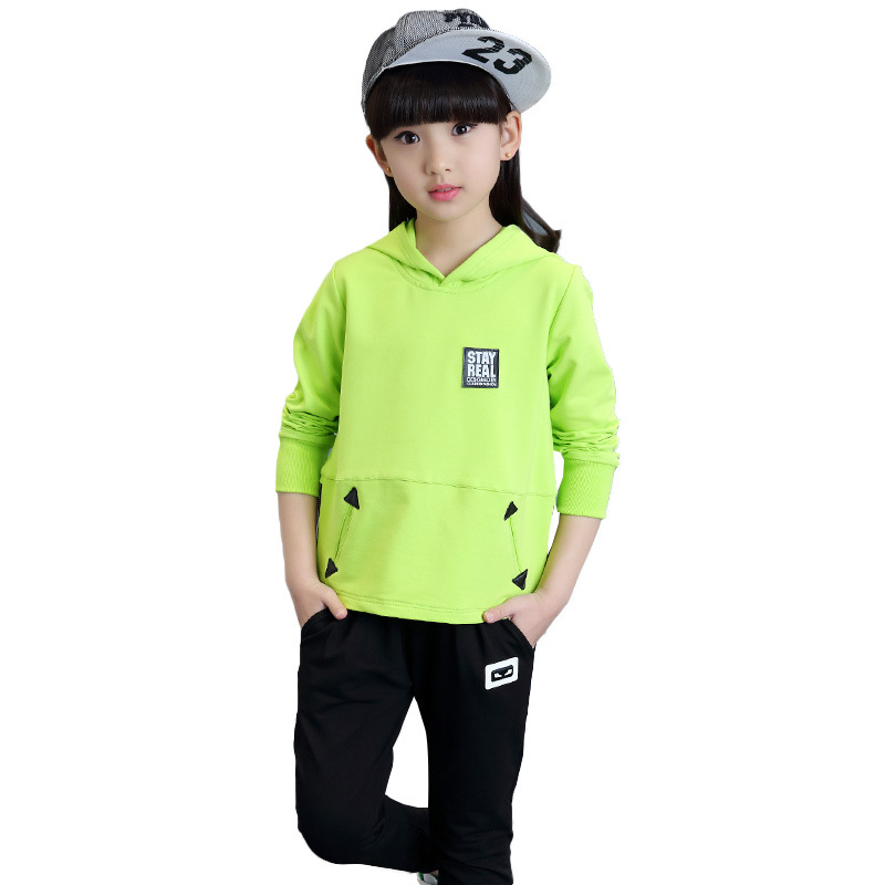 Children Girls Clothing Set New Brand 2017 Fashion Casual Shirts+Cotton Pants 2 Pieces Suits Brand Kids Sport Tracksuits Clothes<br>
