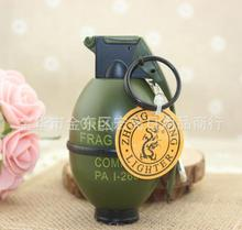 Creative lighters accessories grenade lighters personality metal spray paint windproof lighters yanju shape
