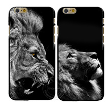 New Fashion Lion Design Cover Case For Apple iPhone 4 4S 5 5S SE 5C 6 6S 7 Plus 6SPlus Hard Plastic Phone Cover Coque Shell