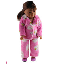 A lovely pajamas + shoes for 18 inches of the United States dolls, is a Christmas gift to the children! b826+n32
