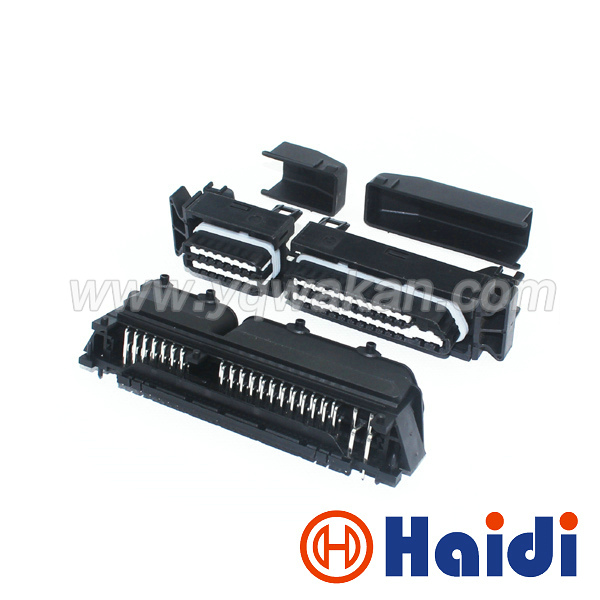 Free shipping 1set 80pin ECU connector 1534512-3 80p auto control system connector 28pin 1393454-1 add 52pin 1393450-2 with pins<br>