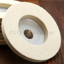1Pcs 4Inch Dia 100mm Round Polishing Wheel Wool Felt Buffing Polishers Pad Pearl Cloth Buffing Wheels Abrasive Tool Car Styling(China)