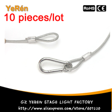 (10/lot) Safety Cable Stainless Steel Wire diameter  4mm length 800mm  for stage lights moving head par light dj lighting