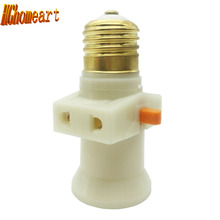 Fireproof Materials E27 Pendente Switch Vintage Lamp Holder E27 Socket Switch 100%pure Copper Led Bulb Lampholder E27 Lamp Base(China)