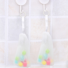 1 PCS Bath Shower Body Foaming Net Cleaning Scrub Sponge Soap Net Scrubber Body Bath Flower Bathroom Products P25