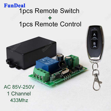 433Mhz Universal AC 85V ~ 250V 110V 220V Relay 1CH Wireless Remote Control Switch Receiver Module and RF 433 Mhz Remote Controls(China)