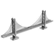 Golden Gate Bridge Metal 3D Jigsaw Puzzles For Kids Stainless Steel DIY Assembly Model Building Architecture Educational Toys