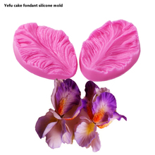 Jialian fondant silicone mold 3D flower cooking wedding decoration baking Sugar Craft Molds 2pcs Leaves DIY Cake fimo FT-0748(China)