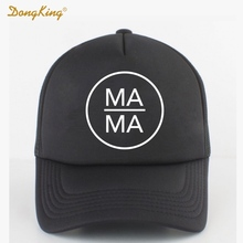 DongKing Fashion Trucker Hat MAMA PAPA BABY Printed Family Gift Couples Cool Baseball Snapback Caps Meth Cap Men Women Child(China)