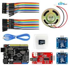 DIYmall For Arduino MP3 Player Kit UNO R3 Board Micro SD Card Touch Sensor Module with ATmega328P By diy Kit FZ2663