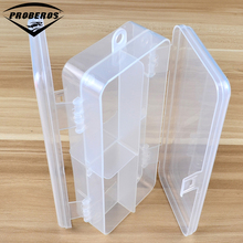Two Side Open Transparent Plastic Fishing Tackle Box For Fishing Lure Fishing Spoons Accessories 5 Compartment Storage Box