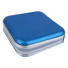 40 Disc CD DVD Holder Storage Cover Case Organizer Plastic Wallet Bag Album Blue Black Color Aquare Storage Bags Free Shipping