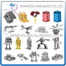 Piece Fun 3D Laser Cut DIY Assembly Models Metal Puzzle Halo UNSC WARTHOG Zakul Golden General Gundam Adult kids educational toy