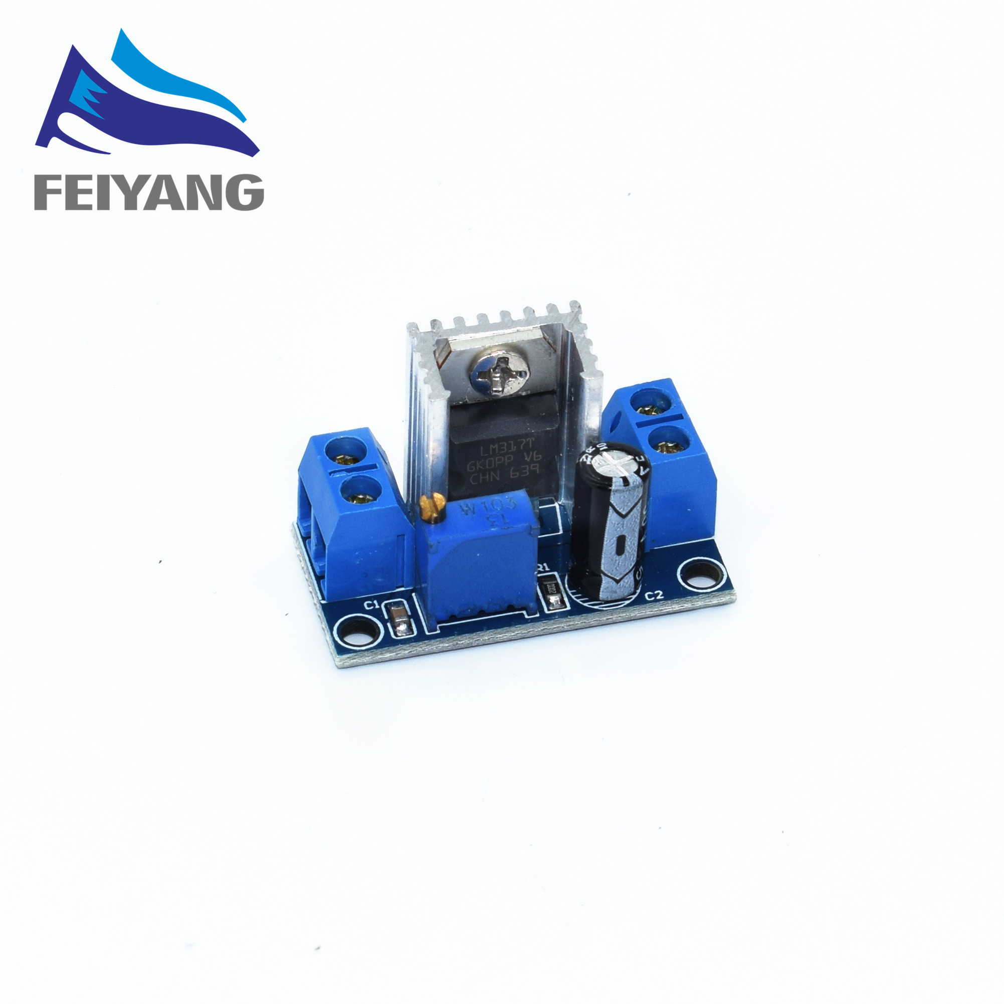 100PCS LM317 Adjustable Voltage Regulator Power Supply DC-DC Converter Buck Step Down Circuit Board Module Linear Regulator 1