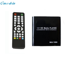 Adroit Black Color Portable 1080P Mini HDD Media Player MKV/H.264/RMVB HD with HOST USB/SD Card Reader JAN6