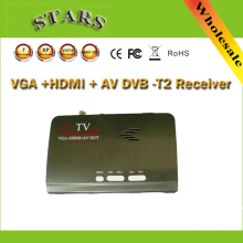 Digital HDMI DVB-T T2 dvbt2 TV Box VGA AV CVBS TV Receiver Converter with USB dvb-t2 Tuner for Mpeg 4 H.264 With Remote Control
