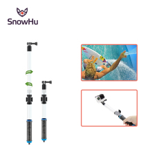 SnowHu for GoPro Accessories 62cm Waterproof Diving Extension Pole+WIFI Remote Clip for Go pro Hero 5 4 3+ 2 1 XiaomiYi TP239(China)