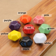 MEGAIRON Ceramic Door Pull Handle European Diamond Shape Drawer Cabinet Knobs Hardware 8 Colors