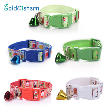 Newest Design High Quality Christmas Pet Dog Collar Nylon Gift Snowman Hat Miludeer Candy Santa Style with Bell Pet Supplies(China)