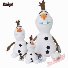 "Hot Sale Olaf 50cm/19.7""Plush Kids Baby Toys Dolls Snowman Cartoon Anna and Elsa Stuffed Plush Toys Gift For Girl Free Shipping(China)"