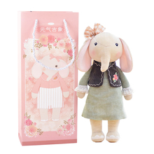 New Arrival METOO Plush Elephant Toys with Gift Package Wearing Cloth Pattern Skirt Gift Toys for Kids Children