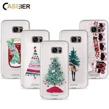 CASEIER Phone Case For Samsung Galaxy S7 S6 Edge S8 Plus Soft TPU Merry Christmas Cover For Samsung Note 8 Silicone Shell Fundas(China)