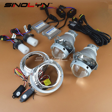 Buy SINOLYN Top 3.0'' HID Bixenon Projector Lens Headlight Retrofit Lenses E5 H4 Full Kit 4300K 6000K 8000K With/Without Angel Eyes for $119.69 in AliExpress store