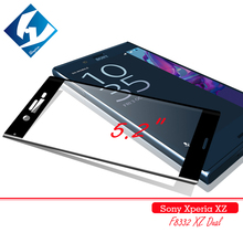 2pcs/lot 3D Curved For Sony Xperia XZ Dual Full coverage 9H Screen Protector Tempered glass Film Protective For Sony XZ F8332