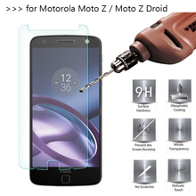 2.5D 0.26mm 9H Premium Tempered Glass For Motorola Moto Z / Moto Z Droid Screen Protector protective film For Moto Z Glass(China)