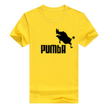 YGYKE 2017 new brand PUMBA Lion King t-shirt men short sleeve o-neck t shirt off black Tops Tees Health breathable tops tees(China)