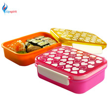 1Pc 420ml Plastic Food Storage Containers Vacuum Food Container Japanese Bento Lunch Box Kitchen Food Storage Container With Lid(China)