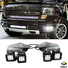4X High Power LED Fog Light with Hold Stand Bracket For 2010-2014 FORD F150 SVT Raptor(China)