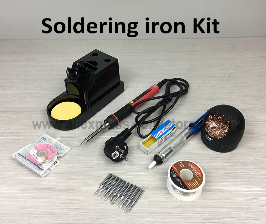 CXG E60w E90w E110w Digital LED Display Adjustable Soldering iron Welding Tool Kit Solder Tip Tin wire Rosin For BGA Repair<br>