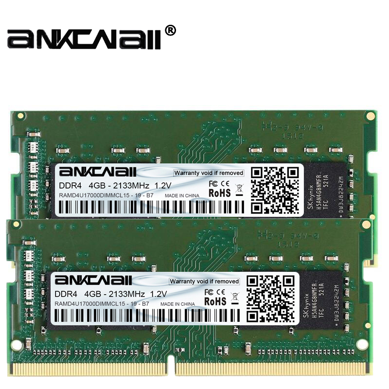 New ANKONALL ddr4  8GB (2PcsX4GB)  2133MHz 2400 MHz 2666 Mhz Laptop memory, highly compatible with Intel and AMD systems