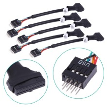5pcs 20/19 Pin USB 3.0 Female to 9 Pin USB 2.0 Male Motherboard Cable 480mbps Data Speed Computer Cable Connectors Promotion(China)