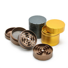 2017 E.K.J New Arrival Herb Grinder Brown Black Gold 4 Parts Hand Crusher for Tobacco Metal Aluminum Smoking Accessories Muller(China)