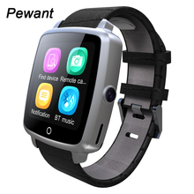 Leather Strap Bluetooth Smart Watch With Russia Support Micro SIM Card Camera For Apple IOS Android  Sony 3 Phone Smartwatch