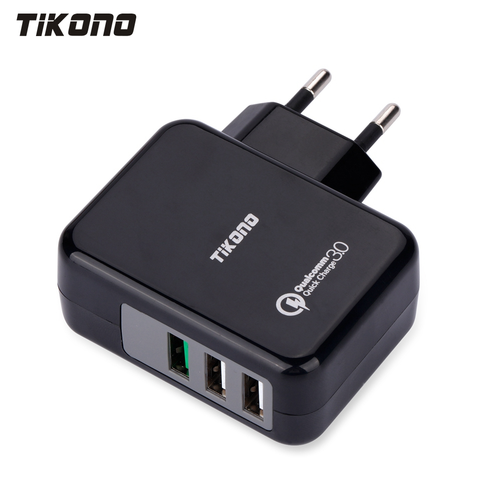 Tikono USB Charger Qualcomm Quick Charge 3.0 Fast Charger For Samsung LG Xiaomi 3 Ports Wall Charger Universal Travel Charger(China (Mainland))