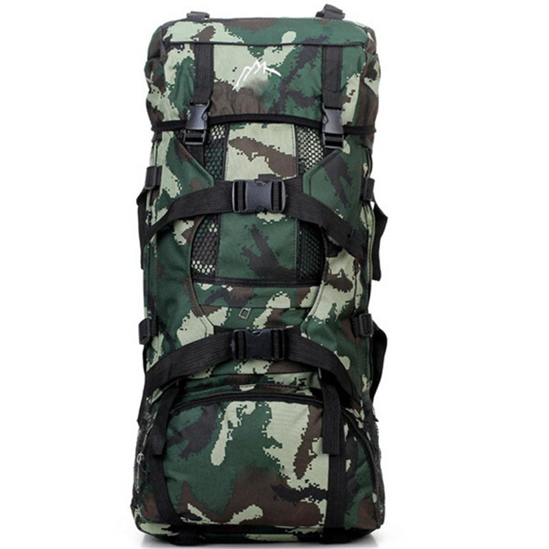 Multi-purpose Backpack Fashion Backpacks 70 L Large Capacity Rugzakken Camouflage Double Backpack Bags Bolsos<br>