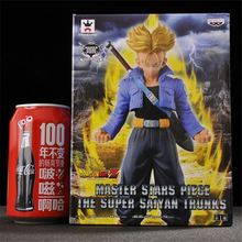 1pc/lot Dragon Ball Z Super Saiyan Trunks Mater Stars Piece PVC Anime Office Decoration Collection Toys For Kid 18cm With Box(China)