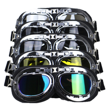 Vintage style motorcycle helmet goggle retro helmet glasses wear leather covered for biker fans favourite DIY accessories