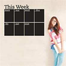 Removable Wall Sticker PVC Blackboard Stickers Decor Decals Art Chalkboard For School Office Kids Rooms One Week Plan GI872588