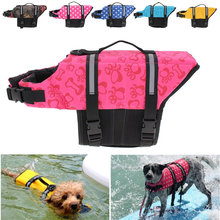 Pet Aquatic Reflective Preserver Float Vest Dog Cat Saver Life Jacket Safety Clothes For Surfing Swimming Vest Swimwear XS/S/M/L(China)